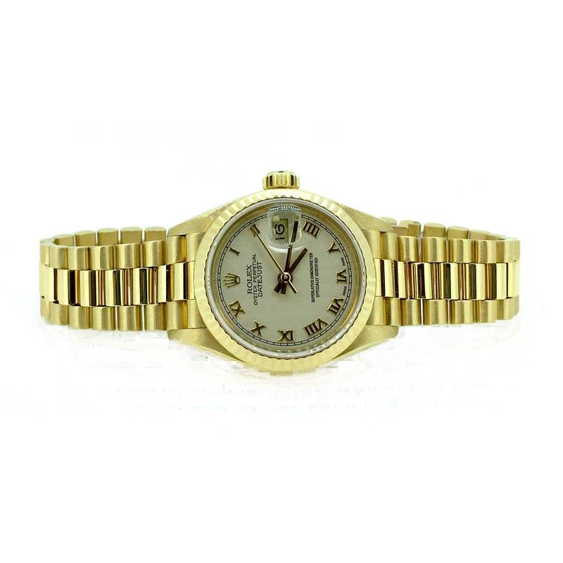Rolex President Datejust in 26mm with a fluted bezel