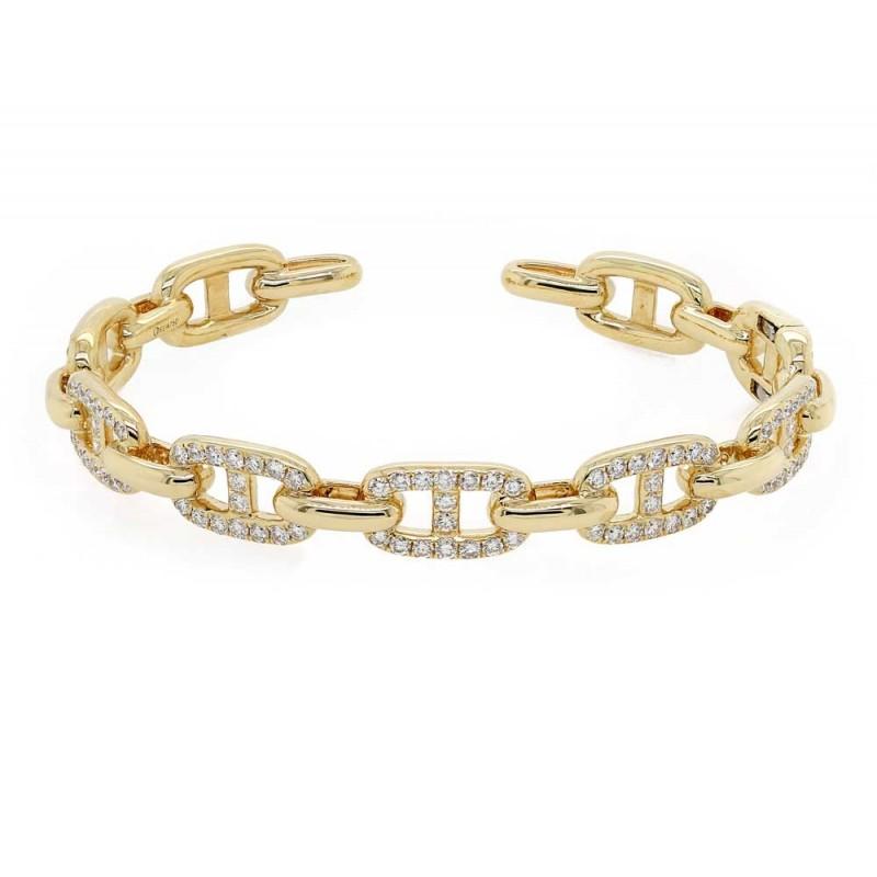 Diamond Link Bangle Bracelet