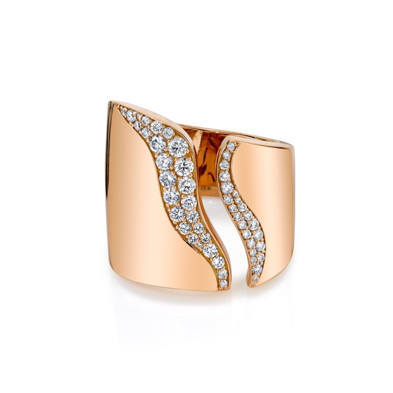 Rose Gold Diamond Open Band