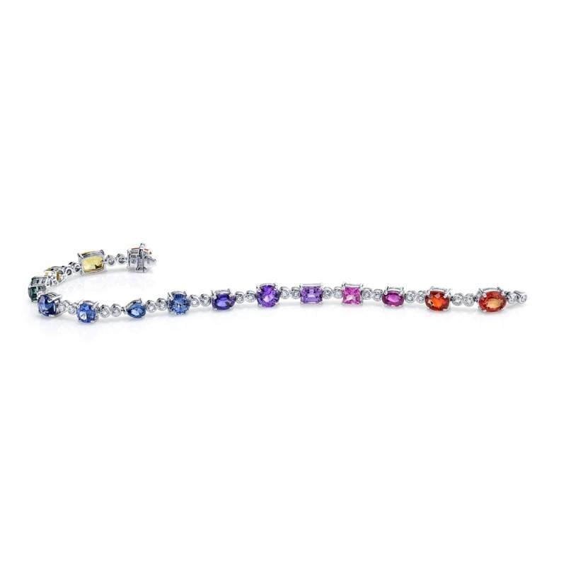 Rainbow Sapphire Bracelet