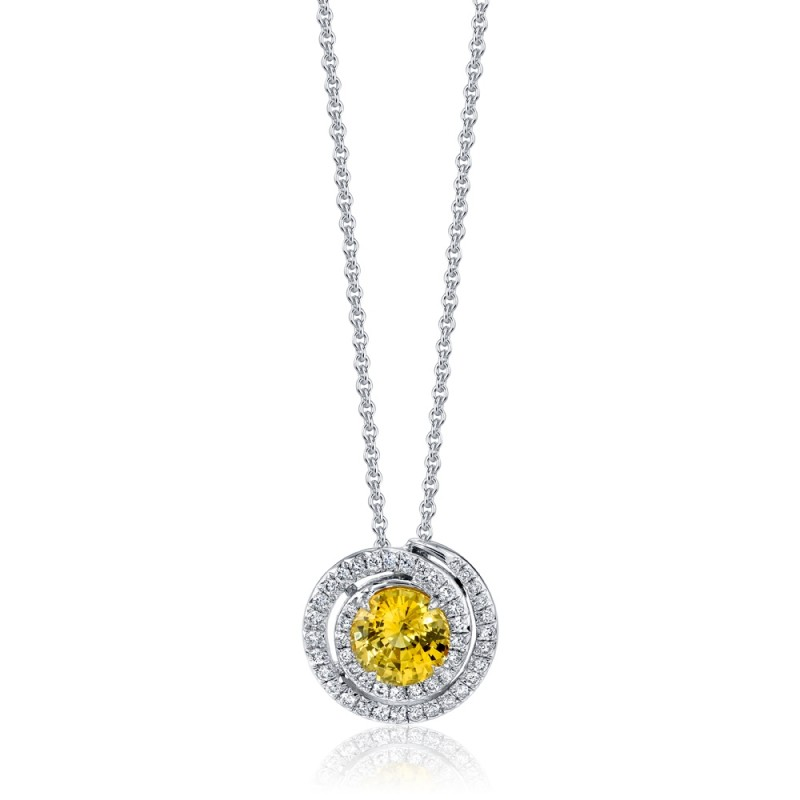 Yellow Sapphire Swirl Pendant