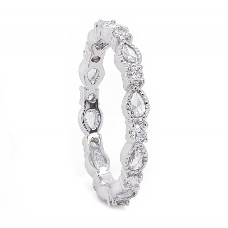 Pear & Round Diamond Eternity Band