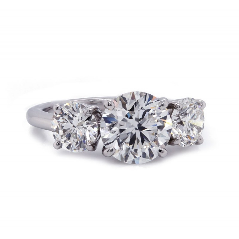 Three Stone Diamond Ring 3.61 t.c.w