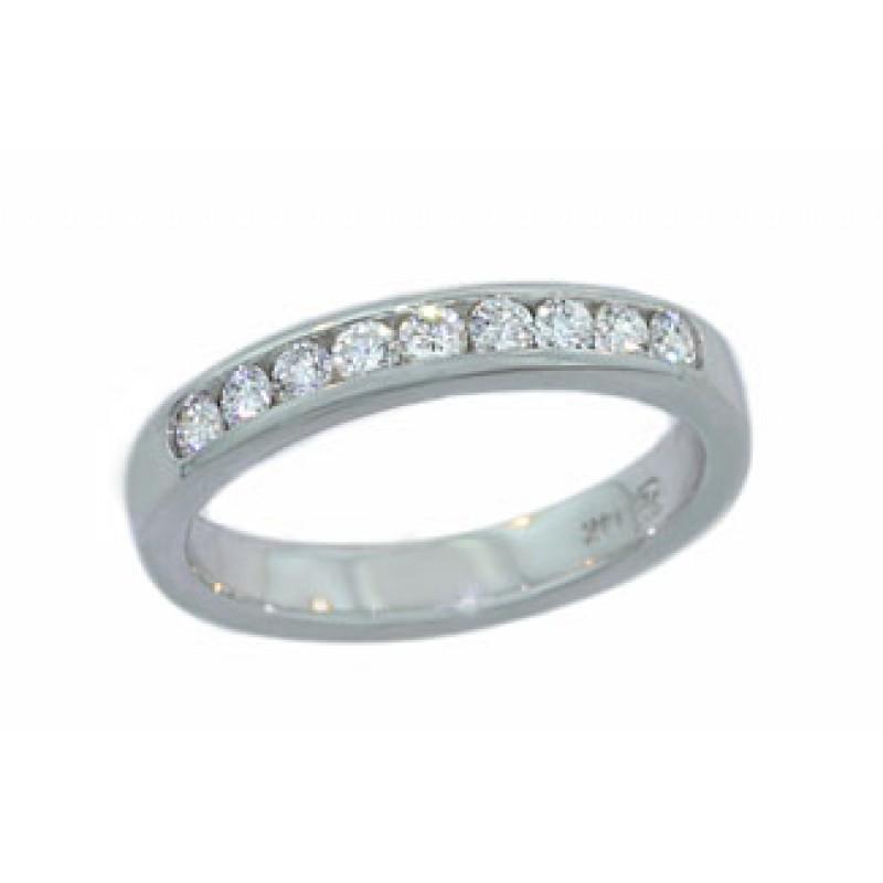 10 diamond .32ctw channel set band 14kwg