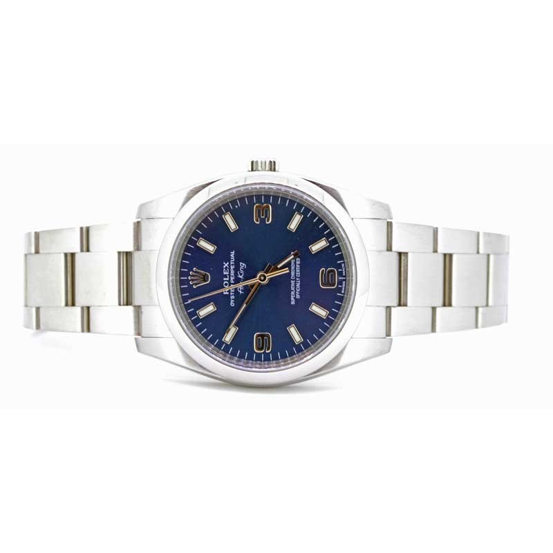 Rolex Air King Blue Dial Stainless Steel