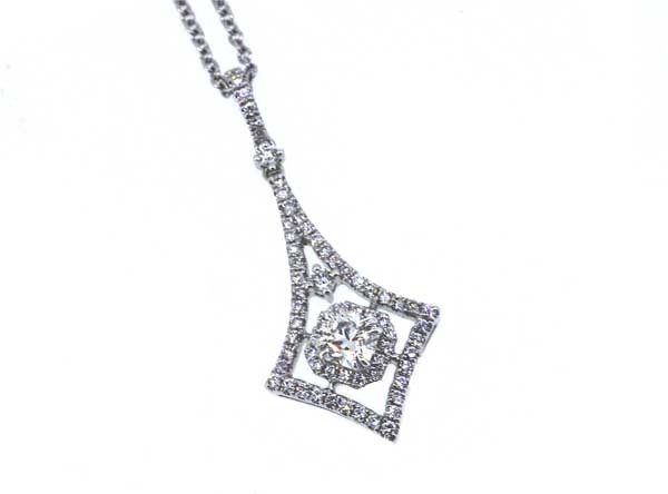 Forevermark diamond kite shaped pendant