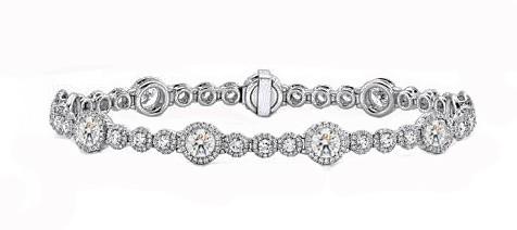 Forevermark 6.24ctw platinum diamond halo bracelet