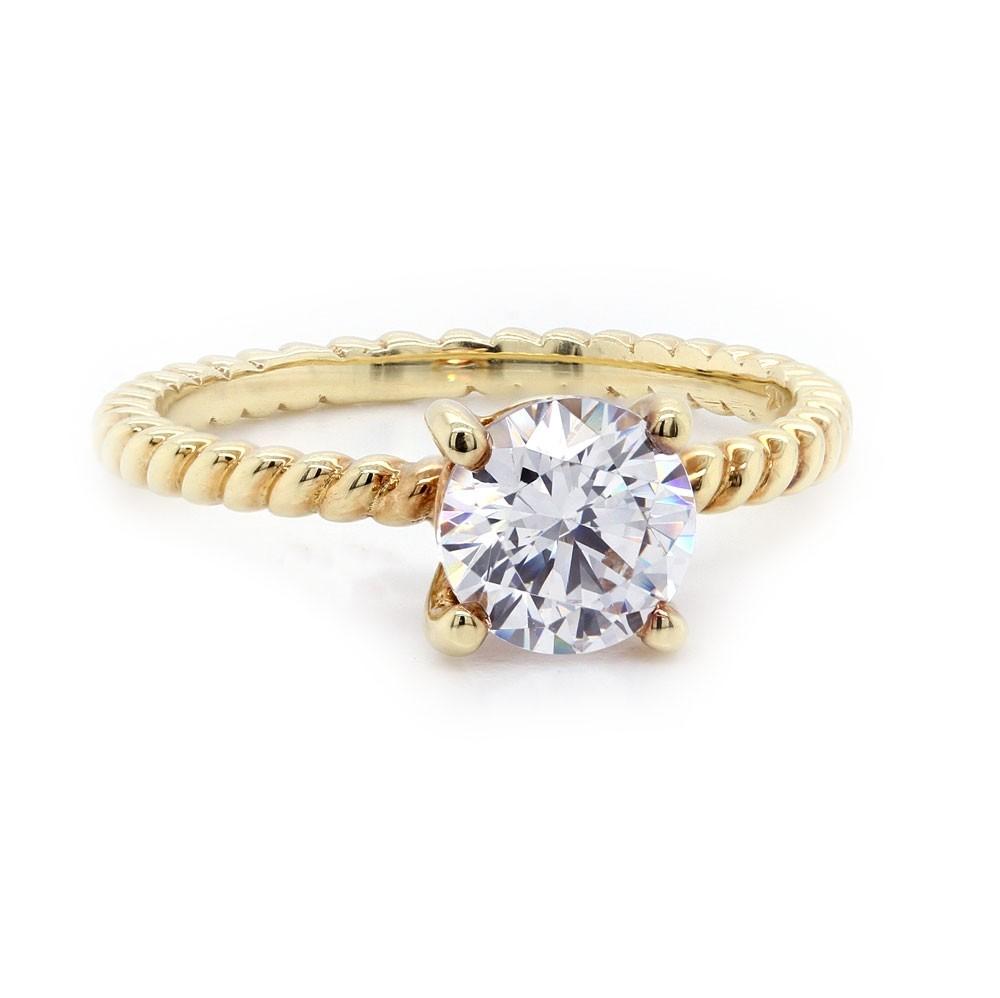 Sholdt Rope Design Diamond Solitaire Ring
