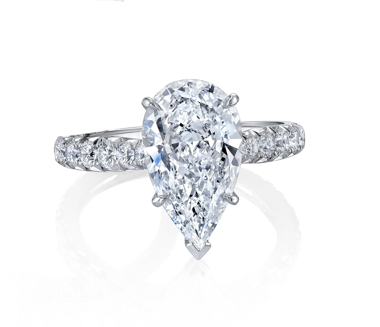 76e564985 Pear Shape Diamond Engagement Ring. Zoom