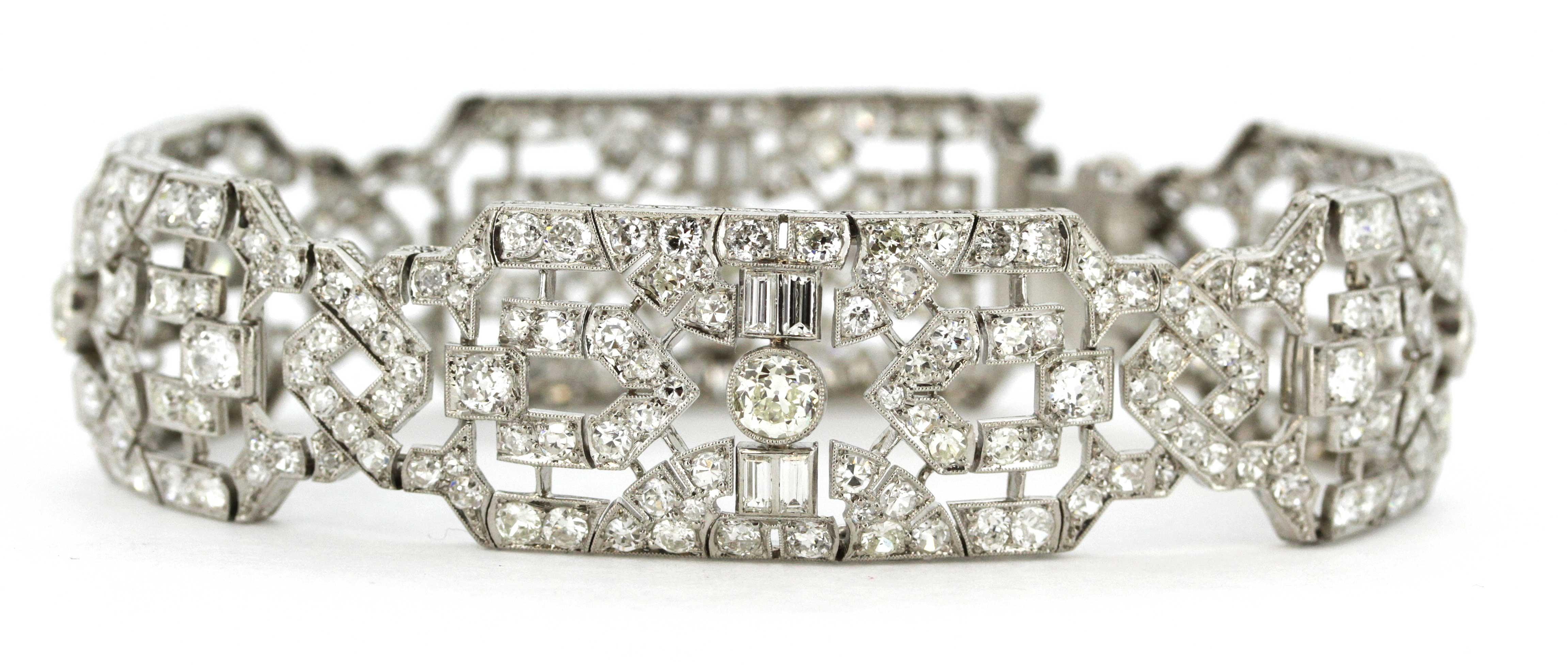 Art Deco style platinum bracelet