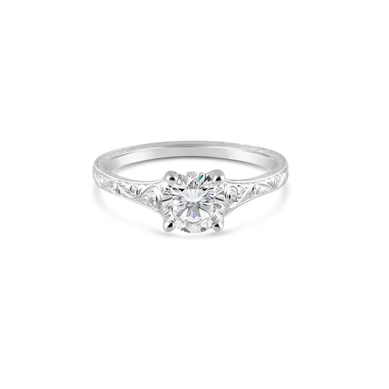 Sholdt Design Hand Engraved Solitaire Ring