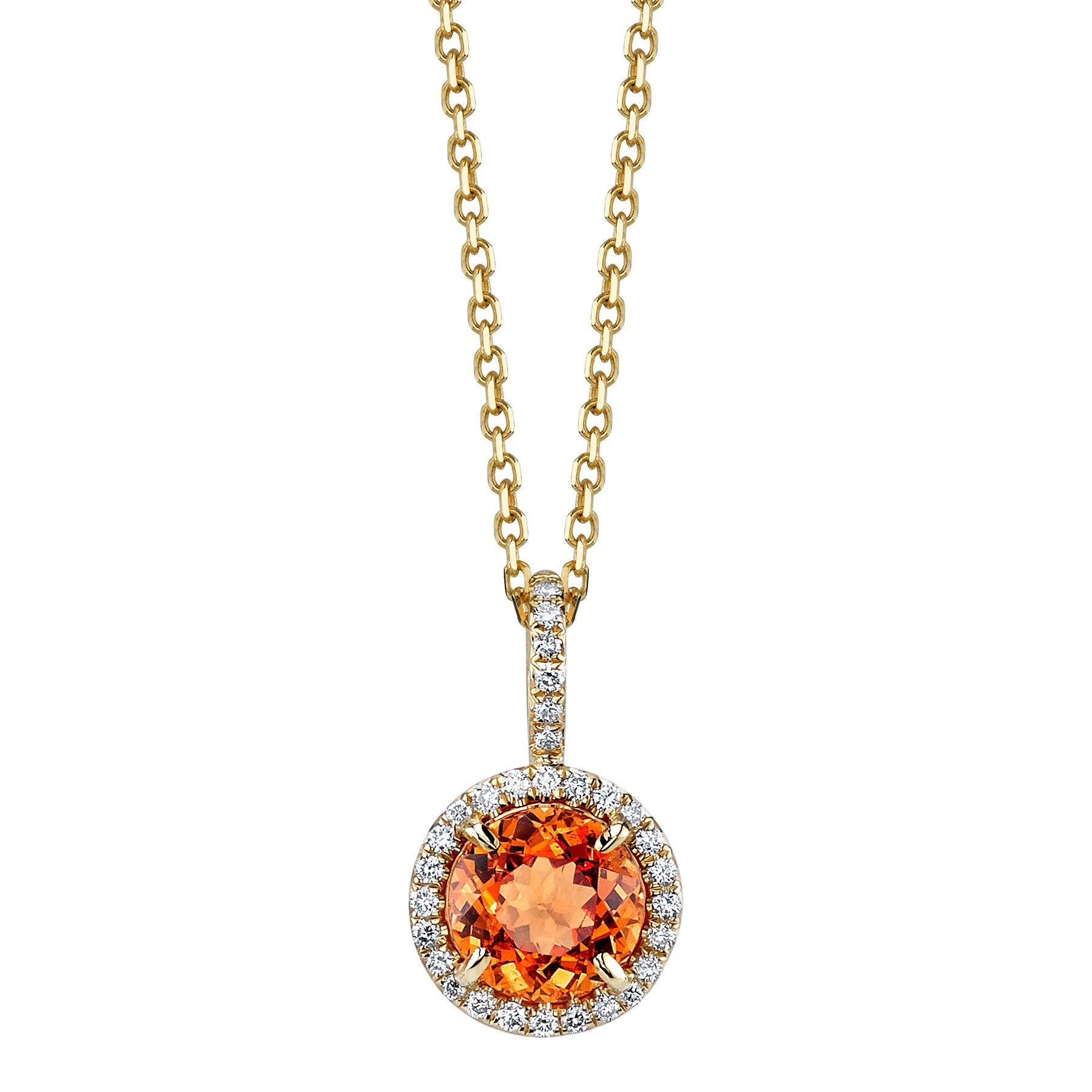 Orange Spessartite Garnet Pendant