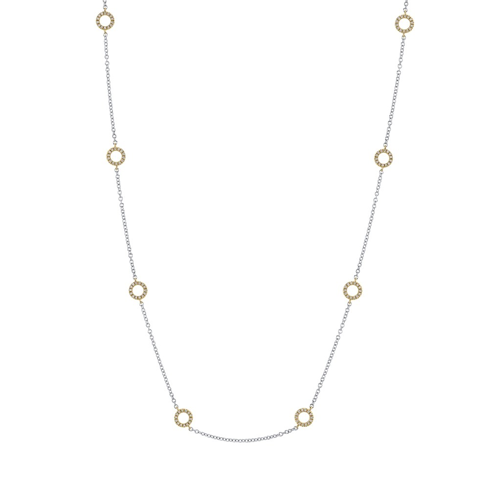 Circle by the Yard Diamond Necklace