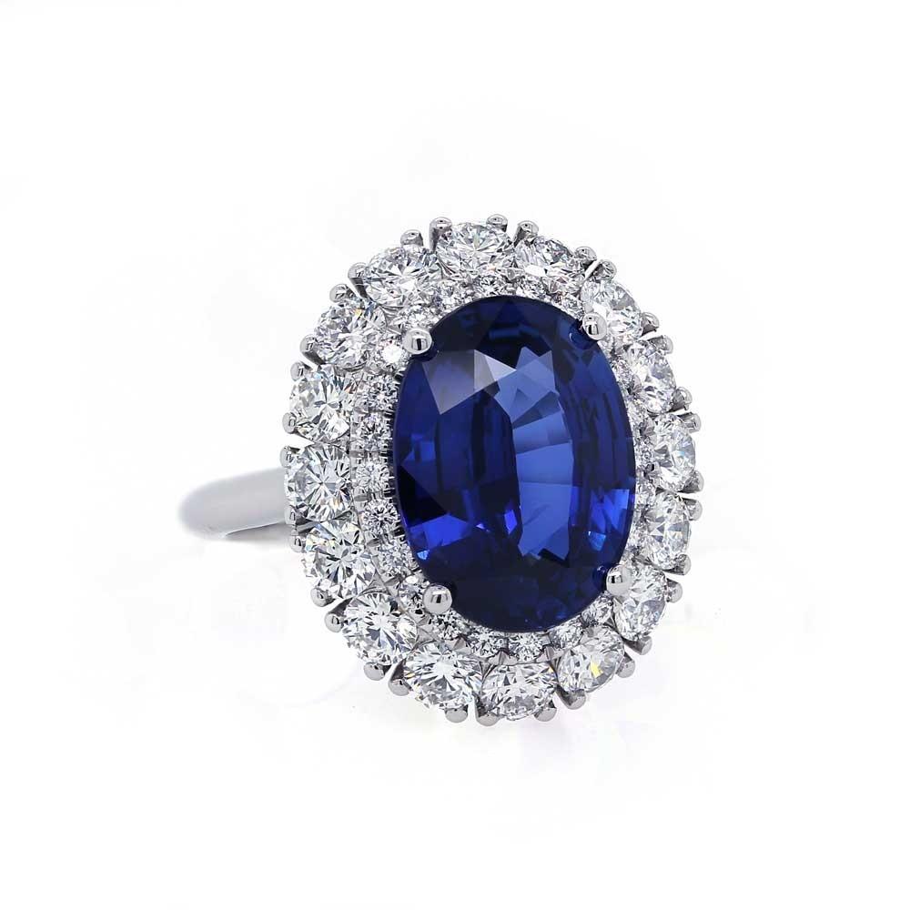 Royal Blue Sapphire Platinum Ring