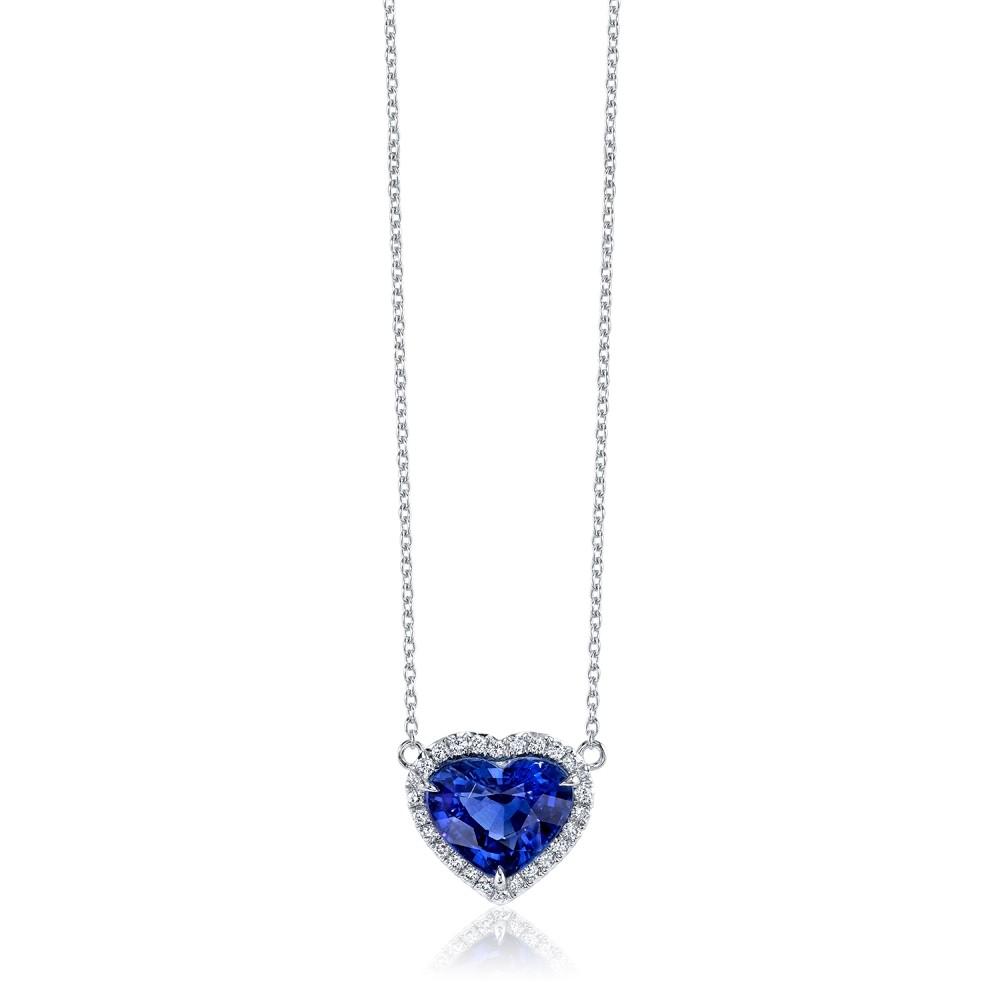 Blue Sapphire Heart Pendant