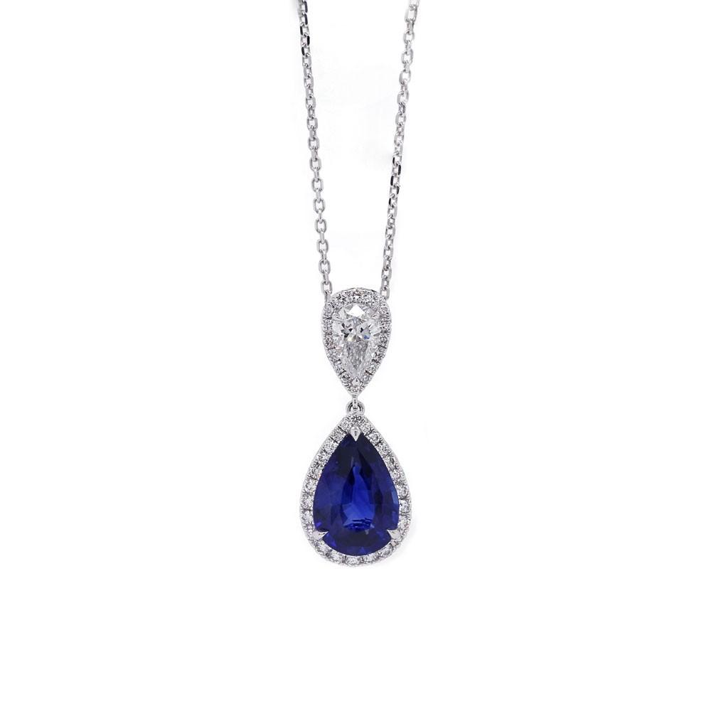 Pear Shape Sapphire Pendant
