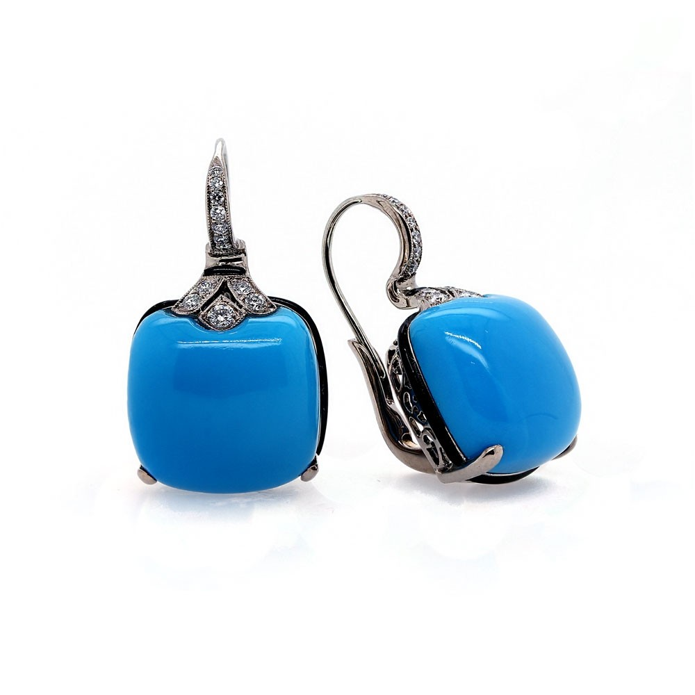 Antique design Turquoise Earrings