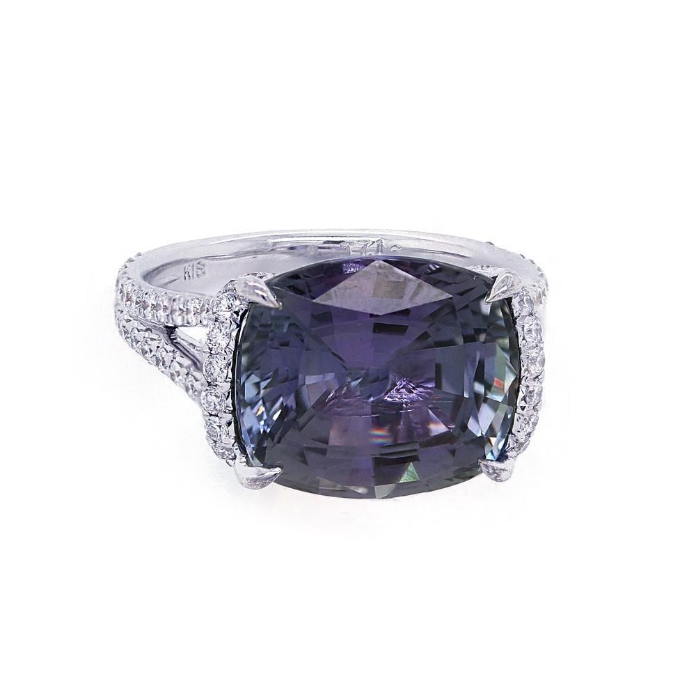 Unheated Tanzanite and Diamond Ring