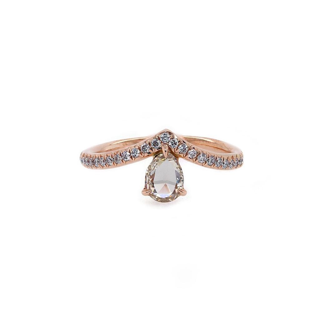 Rose Gold Diamond Tiara Ring