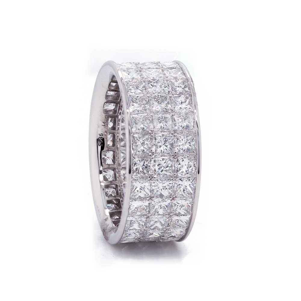 Princess Cut Diamond Eternity Band