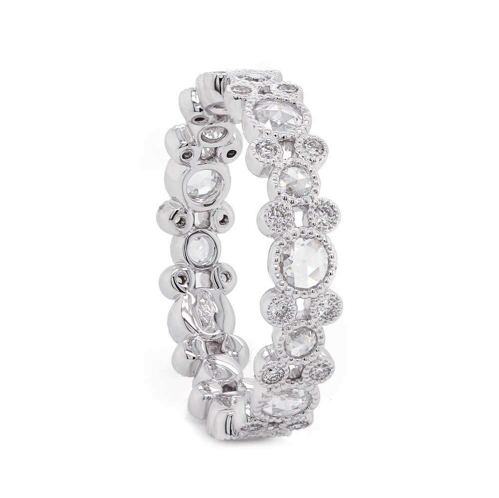 Rose Cut Diamond Eternity Band