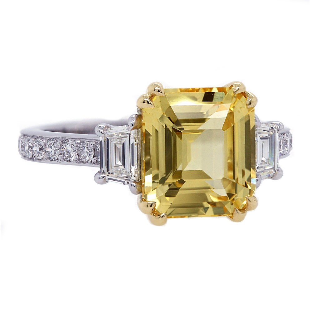 Unheated Yellow Sapphire Ring