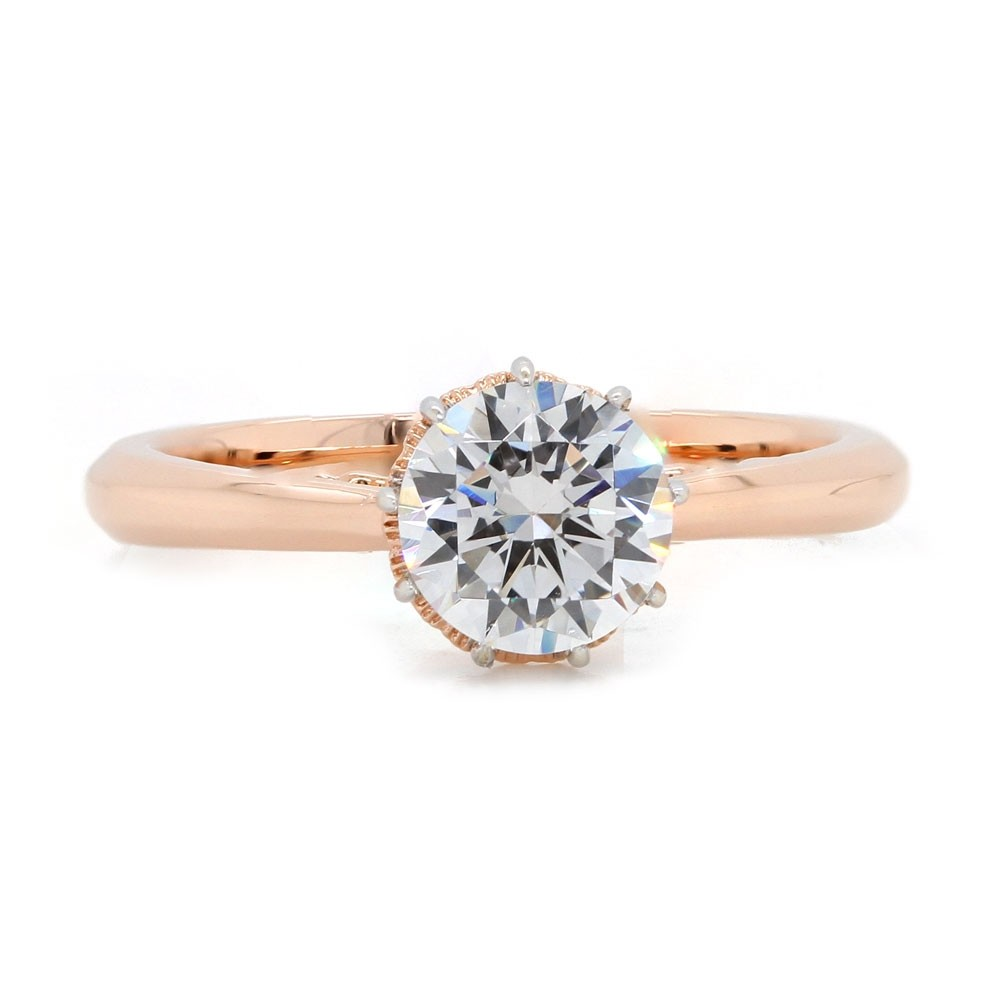 Six Prong Rose Gold Solitaire Engagement Ring