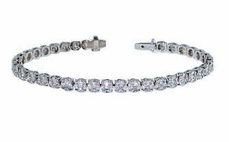 Illusion set seamless diamond tennis bracelet