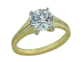 Sholdt 18k channel set diamond tapering ring