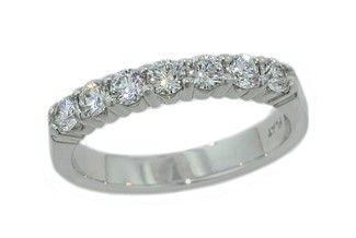 Seven diamond wedding band