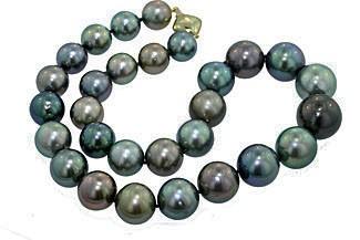12-10mm Black South Sea's Pearl Graduating necklac