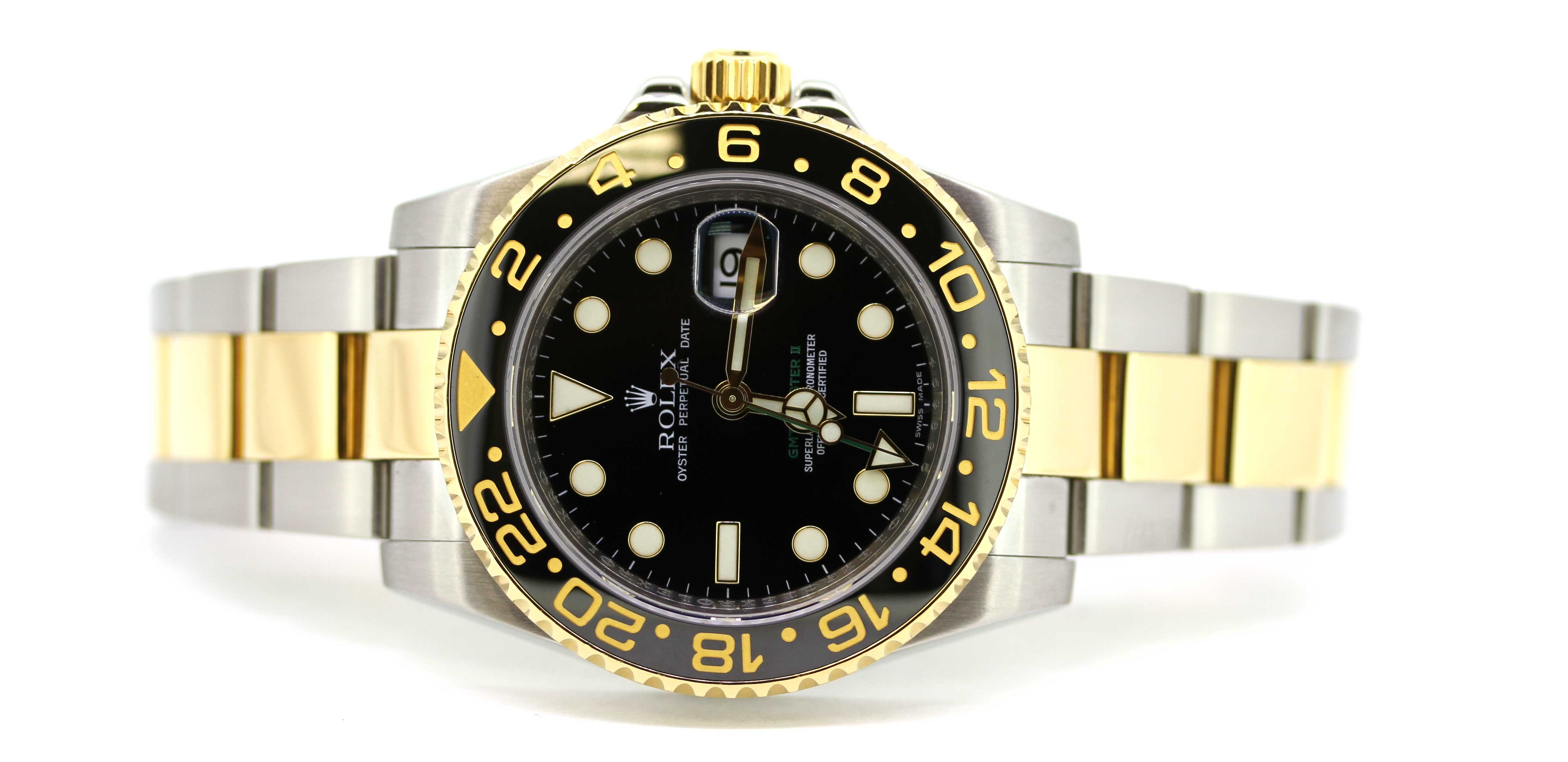 Rolex GMT Master II in steel and gold 116713