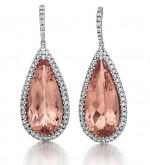 Stunning Morganite Drop Earrings