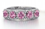 Pink Sapphire Halo Band