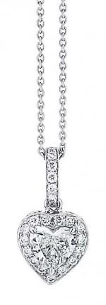 Heart Diamond Pendant with halo