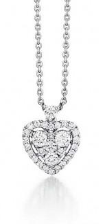 Pave Heart Diamond Pendant
