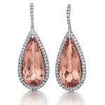 Stunning Morganite Drop Earrings