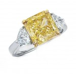Fancy Yellow Radiant Diamond Ring
