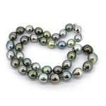 Multi-color Baroque Tahitian pearl necklace