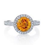 Golden Sapphire Engagement Ring