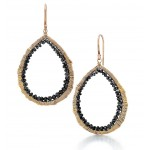 Black Diamond Open Drop Earrings