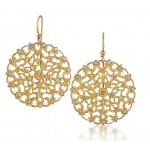 Marika design pierced filigree style diamond earrings