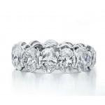 Custom made oval diamond eternity band