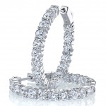 Diamond Hoop Earrings Inside-Out
