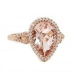 Pear Morganite Rose Gold Ring