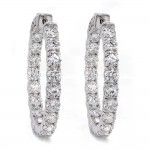 Diamond Hoop Earrings Inside Out