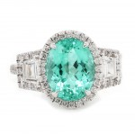 Paraiba Tourmaline Custom Ring