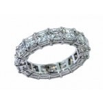 Custom 7.31ctw asscher cut diamond eternity band