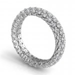Sasha Primak Royal Prong Three Row Eternity Band JS-WB130A-PT-SP