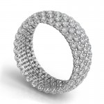 "Sasha Primak Five-Row ""Royal Prong"" Round Diamond Eternity Band JS-WB188-PT-Q4"